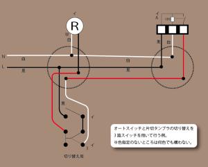 3路で切り替え複線図
